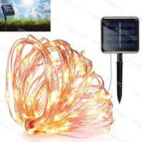 Rasenlampen Solargarten Lichter 200Lleds 300LEDs Kupferdraht LED Fairy String 22m 32m 8Moder für Ferienlandschaft Dekoration DHL
