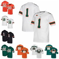 Miami Hurricanes Jerseys Brad Kaaya Jersey Ed Reed Ray Lewis Sean Taylor Andre Johnson 2020 Mens College Football camisas personalizadas costurado