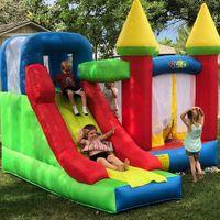 Quintal Backyard PVC Tarpulin Inflável Castelo De Salto Casa de salto para crianças