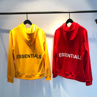 Fear Of Gog ESSENTIALS Yellow Red Hoodies Black White Letter...