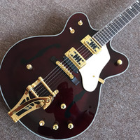 Manufacturers custom- made hot semi- hollow jazz electric guit...