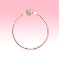 18K розовое золото позолоченные подвески браслеты с оригинальной коробкой для Pandora 925 серебряные сердца любви змея браслет-цепочка женщины свадебные украшения