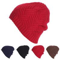 Le donne di nuovo disegno Coperchi twist Donne modello invernali cappello a maglia del maglione di modo Beanie cappelli per le donne 6 colori gorros