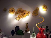Современное муранское стекло стена искусство Красочная Горячая Продажа ручная работа выдувное стекло настенной плитка Fancy Led Декоративный настенные светильники Индия