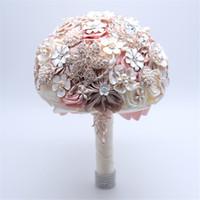 Yapay elmas Düğün Gelin Holding Çiçek 1 Paketi Güzel Takı Broş Buket Kristal Gelin Holding Çiçekler