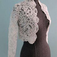 Fashion Front Open White White Ivory Bolero pour la robe de mariée Vestes de robe de mariée à manches longues Top Dentelle Appliques veste personnalisée