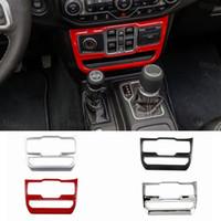 ABS fenêtre Panneau de configuration Decoraion couverture pour Jeep Wrangler JL 2018 Factory Outlet Haute quatlity Auto Accessoires interne