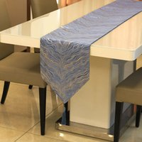 Modern Nordic Luxurious Ripple Table Runners Dinning Table Cover Korean New Chinese Style Coffee Table Cloth Hotel Bed Runner