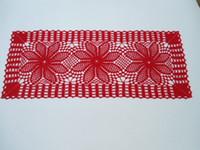Handgemachte Häkeldeckchen, Läufer, Spitzendeckchen Tischdecke, Größe - 84 cm. X 28 cm. Baumwolle
