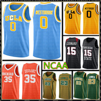 UCLA Russell 0 Westbrook Reggie 31 Miller Jersey NCAA University Kawhi 15 Leonard Tanie Hurtownie Koszulki do koszykówki Logo haftu