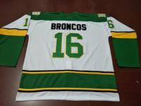 Männer echte Voll Stickerei # 16 Humboldt Broncos Hockey Jersey oder benutzerdefinierten beliebigen Namen oder Nummer Retro Jersey