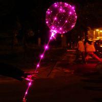 20 pouces clair Bobo Ballons avec LED Light Bar, String Creative Light Ballon pour l'anniversaire de mariage Fête de Noël décoratif ballon Lumière