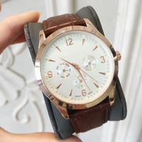 2019 New Brown Leather Fashion quartz Men' s Stainless S...