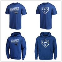 Los Angeles 2019 NL West Division Champions Dodgers T-Shirt Designer reale T-Shirt T-shirt uomo Grafica Fans Top Felpe con cappuccio stampate