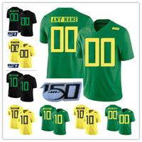 Anatre personalizzato College di Oregon 2019 New Football qualsiasi nome Numero Giallo Verde 10 Justin Herbert 7 CJ Verdell Mariota NCAA 150 ° del calcio Jersey
