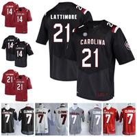 85a8d419d Custom NCAA South Carolina Gamecocks College Football #7 Jadeveon Clowney  14 Connor Shaw 21 Marcus Lattimore 44 Sherrod Greene Taylor Jersey