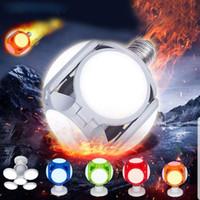 120LED Süper parlak LED Katlama Lambası Kapalı Işıklar 40W E27 LED Işık Futbol UFO Lambası AC 85-265V LED Ampul