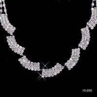 15050 Nueva joyería Collar Pendiente Set Barato Wedding Nupcial PROM COCHECE COCHECE Vestidos de noche Rhinestone en stock Envío gratis 15050