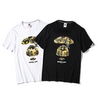 66aa8e464 2019 Novo Dos Desenhos Animados Impresso camisetas de Algodão Rua de Luxo  Casual Tee Hip Hop