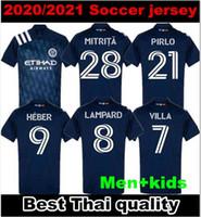 2020 2021 MLS Parley New York City Soccer Jersey 20 21 Parks Nycfc McNamara Moralez David Villa Pirlo Camicia da calcio Dimensione S-XXL Thailandia