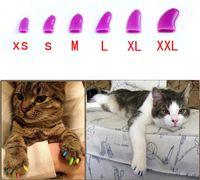 200ピース/ロット良質猫ネイルラップ装飾アクセサリーペットネイルキャップ粘着接着剤ペットキャットネイルアクセサリー