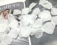 1000 stks wit kunstmatige zijde rose bloem bloemblaadjes bruiloft gunst accessoires partij evenement decoratie