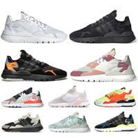 Adidas Nite jogger zapatos de las mujeres de los hombres de los zapatos corrientes Triple s Negro Blanco Naranja de Vial de hielo menta corredores zapatillas de deporte