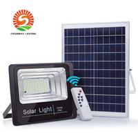 40 W Solar Powered Street Flood Lights, 90 LED's 2500 Lumen Buiten Waterdichte IP65 met afstandsbediening Beveiligingsverlichting voor tuin