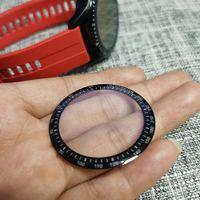 500pcs 3D Curved Borda suave Limpar Protective Film cobertura integral para Huawei Assista GT 2 46 milímetros GT2 Smartwatch Protector de LCD (não de vidro)