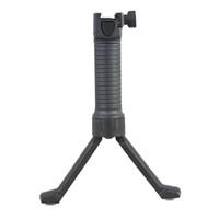 Agarre delantero táctico ergonómico con riel vertical y bípode retráctil con resorte