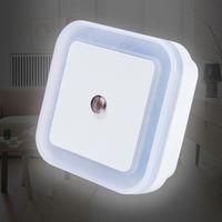 Sensör Kontrol Gece Işık Mini AB ABD Fiş Yenilik Kare Yatak Odası Lambası Bebek Hediye Için Romantik Renkli Işıklar Toptan