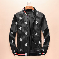 Mens Punk Black Jackets Print Design Jackets Outerwear Homme...