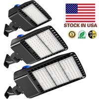 재고 있음 미국 + 480W 300W 200W 150W LED Shoebox 주차장 Light IP65 DLC와 함께 방수 야외 거리 극 조명 Listed Photocell 센서