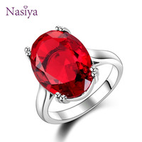Red Ruby Oval Egg Shape Gemstone Sterling 925 Silver Wedding...