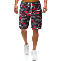 YASUGUOJI New 2019 Summer Fashion Camouflage Mens Vacation Shorts Quick Dry Shorts Men Printed Board Mens Beach