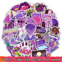 50 stücke vsco lila wasserdichte vinyl aufkleber pack für mädchen teenageralter to diy laptop wasserflasche scrapbook koffer zimmer dekor party favors