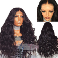 Natural Human hair Loose Wave human hair Lace Front Wigs Ful...