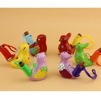 Ceramica Uccello acquatico Fischio Spotted Silvia canzone Chirps decorazione domestica per i regali di bambini scherza Favore di partito RRA2067