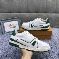 Formateurs Chaussures Hommes Mode Chaussures Design Fleurs meilleure qualité Chaussures Vert Chaussures plates Casual avec la boîte