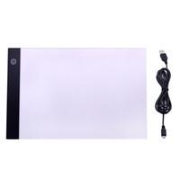 A4 LED الرسم اللوحي الرقمية الوسادة الرسومات USB الجدول الصمام لوحة ضوء مربع نسخة مجلس الالكترونية فن الجرافيك الكتابة