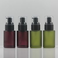 Purple Green Pump Bottle, 30ml Glass Container with Lotion Sp...