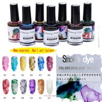 4pc 15ml Watercolor Ink Nail Polish Glitter Poly Gel Lasting...