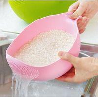 رايس غسل تصفية مصفاة أدوات الإبداعية البلاستيك الفاصوليا تنظيف البازلاء أداة مفيدة أداة مطبخ مريحة LXL1103-1