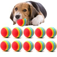 Diametro 35mm interessante Pet Toy dog and cat Giocattoli Super cute Rainbow Ball toy Cartoon peluche