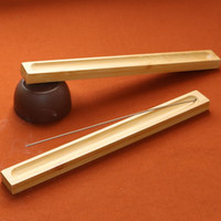 wholesales Bamboo stick incense holder Ash Catcher Incense B...