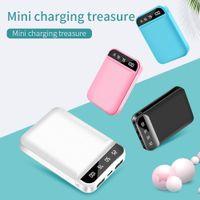 Mini Power Bank 8000mAh Caricabatterie portatile Poverbank Batteria esterna Display a LED 2 USB 10000Mah per Xiaomi Mi Powerbank