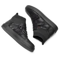 Sıcak Satış-arası Boots Gerçek Deri Kanca Döngü Bilek Boots Man Casual Çizme Boy Trendy Çorap Sneakers Ayakkabı