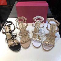 Neue Luxus-Bolzen-Sandalen echtes Leder Sling Pumpen Damen reizvolle hohe Absätze Art und Weise befestigt Schuh-Partei-Absatz-Leder-Schuhe