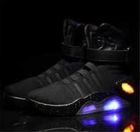 Authentic 2019 Air Mag Turnschuhe Marty McFly Led Schuhe Back To The Future Light Up Schuhe Grau, Rot, Schwarz Glow In The Dark Mit Schuhen Box