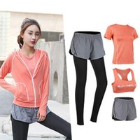 Women Yoga Set Slim Breathable Fitness Clothes Outdoor Gym Run Tracksuit Workout Yoga Suit Sportwear Sports Outfit For Female